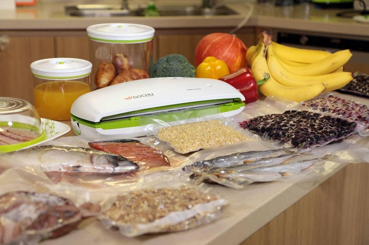Вакуумный комплект №2 c упаковщиком GOCHU VAC-470 бело-салатовый