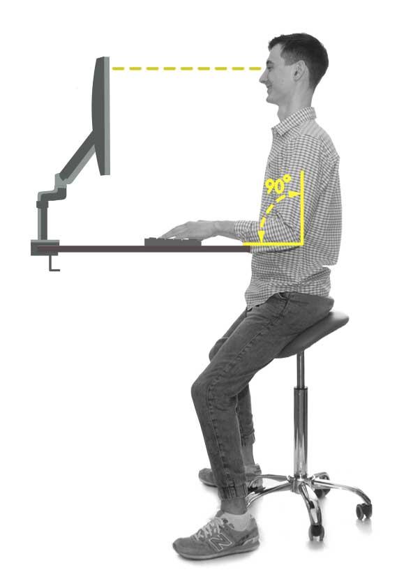 Пример высоты столешницы эргономичного стола