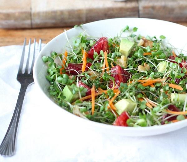 Салат из микрозелени редиса