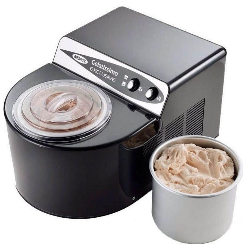 Мороженица Nemox Gelatissimo Exclusive черная 1,7 л (автоматическая)