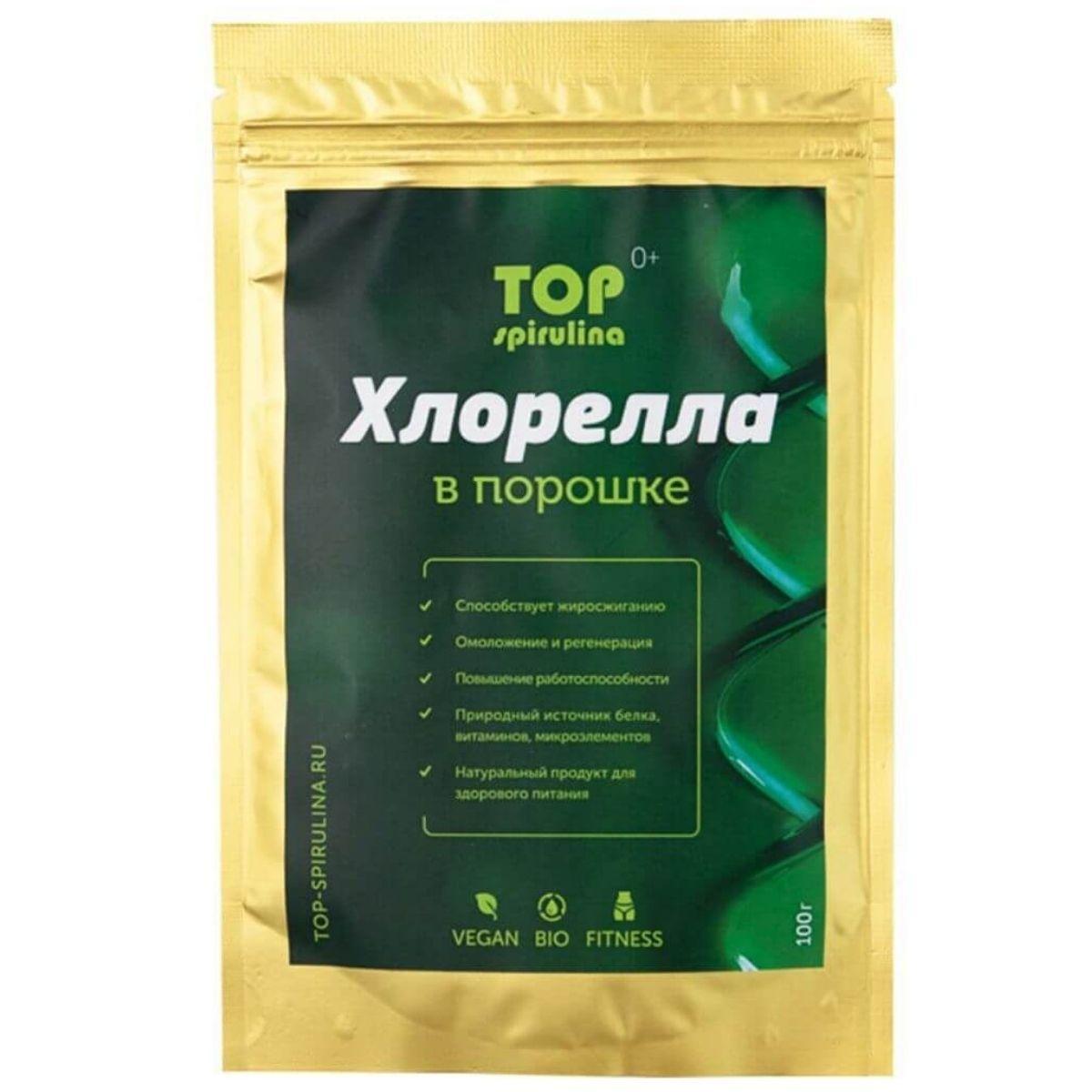 Хлорелла Top Spirulina в порошке 100 г