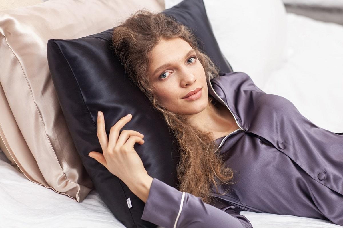 Набор для сна Silk Silk (наволочка + маска)