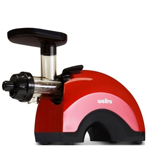 Шнековая соковыжималка Wellra TGJ50S красная (двушнековая)