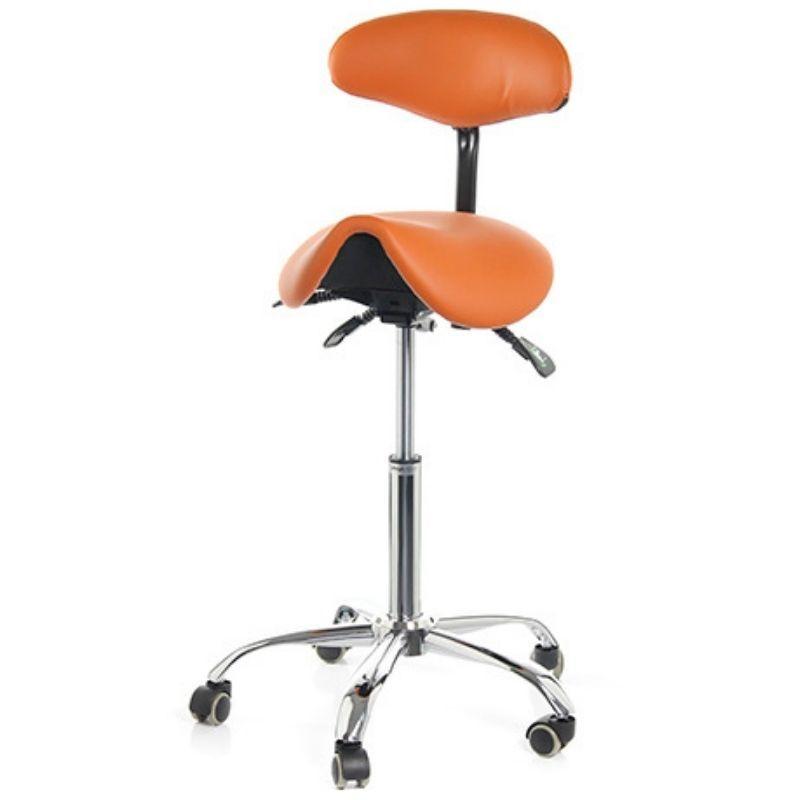 Стул-седло Smartstool S03B со спинкой оранжевый
