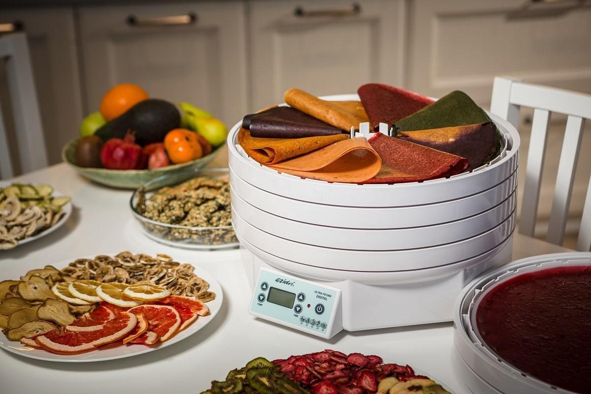 Пастила из натуральных фруктов и овощей в Ezidri Ultra FD1000 Digital