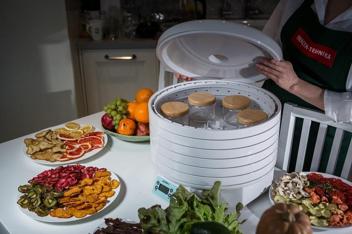Фрукты и овощи в дегидраторе (сушилке) Ezidri Ultra FD1000 Digital