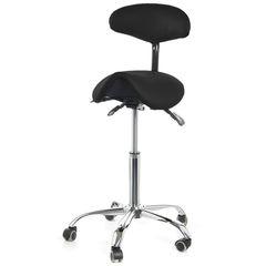 Стул-седло Smartstool S03B со спинкой черный