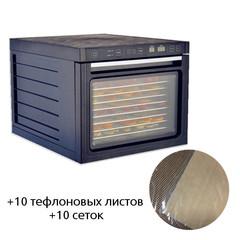 Дегидратор (сушилка) King Mix KM-D12S (стальные поддоны) + 10 тефл. листов + 10 сеток черный