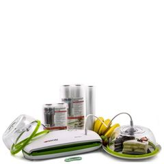 Набор №1 для вакуумирования (вакуумный упаковщик Gochu VAC-470 + вакуумная пленка + вакуумные колпаки + шланг)