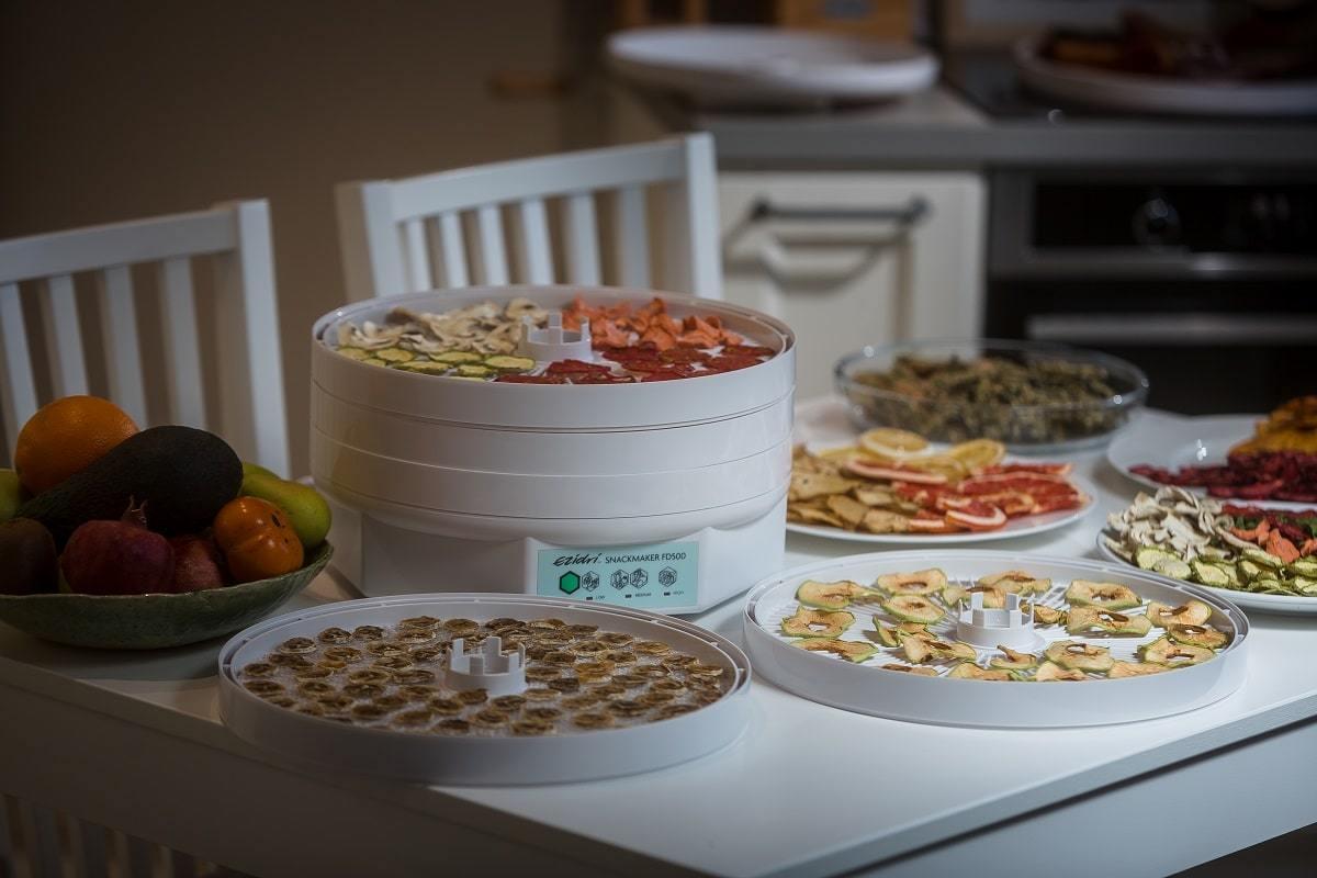Сушеные фрукты в дегидраторе (сушилке) Ezidri Snackmaker FD500