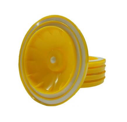 Крышка Вакс 89-100 мм для вакуумного хранения и консервирования, желтая