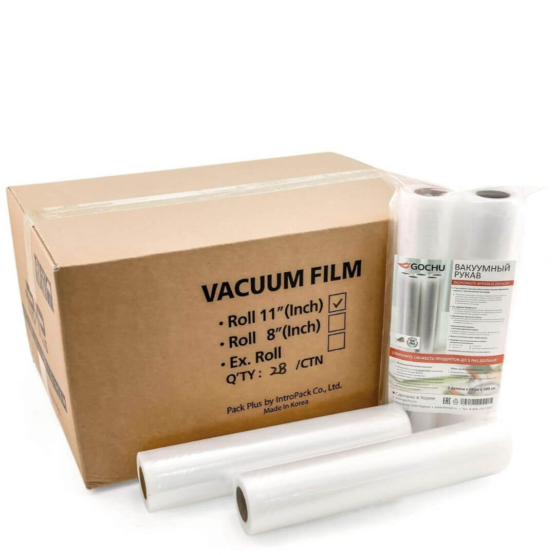 Пленка для вакуумного упаковщика Gochu 28х500 см (28 рулонов)