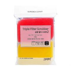 Губка для посуды Sung Bo Cleamy Triple Filter Scrubber