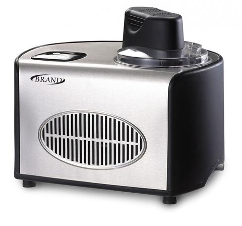 Автоматическая мороженица Brand 3812 (1,5 л., 3 в 1) серебристая