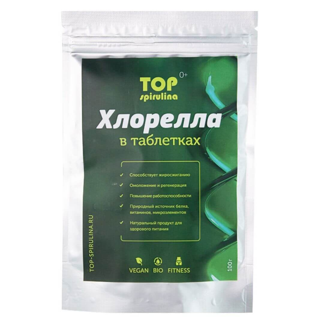 Хлорелла Top Spirulina в таблетках 100 г