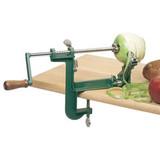 Машинка для очистки и нарезки яблок и картофеля Ezidri Apple Peeler, яблокорезка (на винте) зеленая