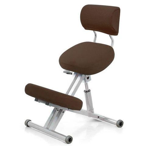 Стул коленный Smartstool KM01B (спинка + газлифт) коричневый