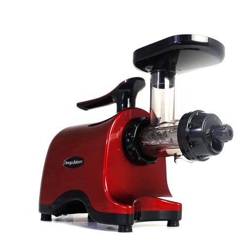 Двухшнековая соковыжималка Omega Twin Gear Juicer TWN32S, красная