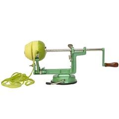 Машинка для очистки и нарезки яблок и картофеля Ezidri Apple Peeler, яблокорезка (на присоске) зеленая