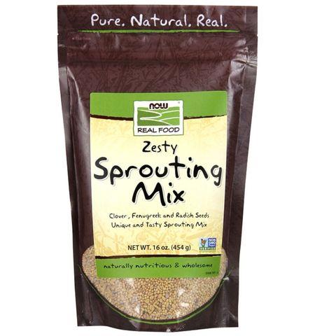 Семена для выращивания микрозелени Now Foods Sprouting Mix 500 г (клевер, пажитник, редька)