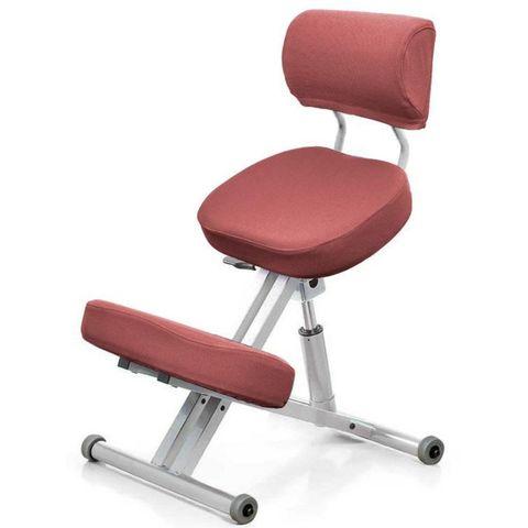 Стул коленный Smartstool KM01B (спинка + газлифт) розовый