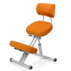 Стул коленный Smartstool KM01B (спинка + газлифт) оранжевый