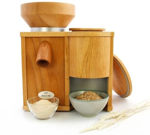 Мельница для зерна Komo Duett 200 (электрическая + зернодавилка)