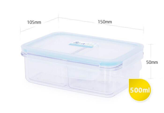 Размер тританового контейнера с замками Bp-a free 500 мл