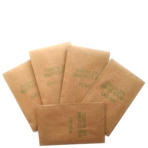 Набор для выращивания микрозелени Чистый Продукт (редис, дайкон, базилик, горчица, кресс-салат, рукола)