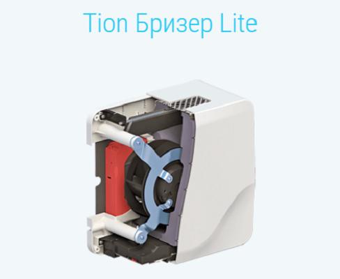 Внутреннее устройство бризера TION Lite