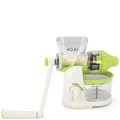 Шнековая соковыжималка Lexen Koju Juicer Manual бело-салатовая (ручная)