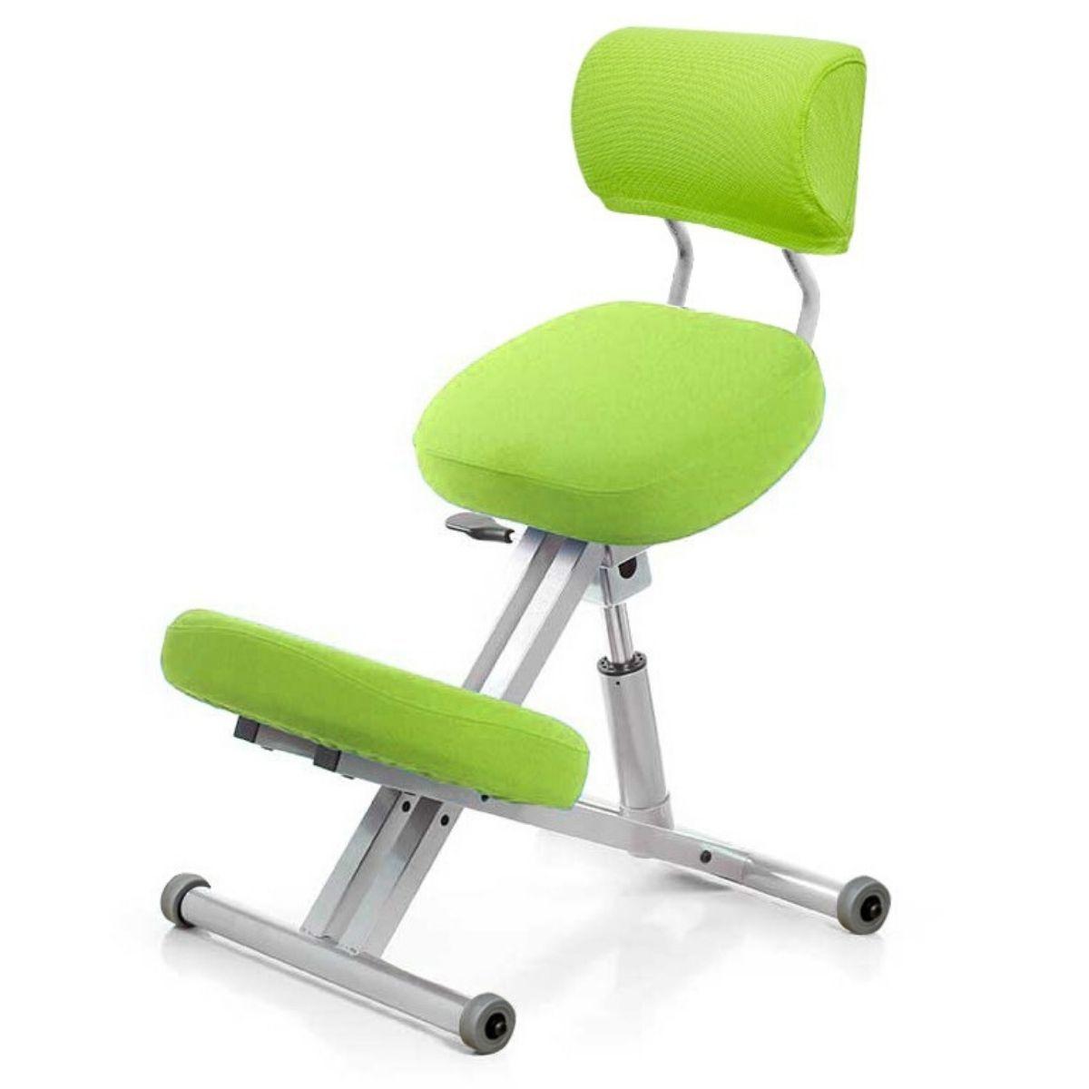 Стул коленный Smartstool KM01B (спинка + газлифт) салатовый
