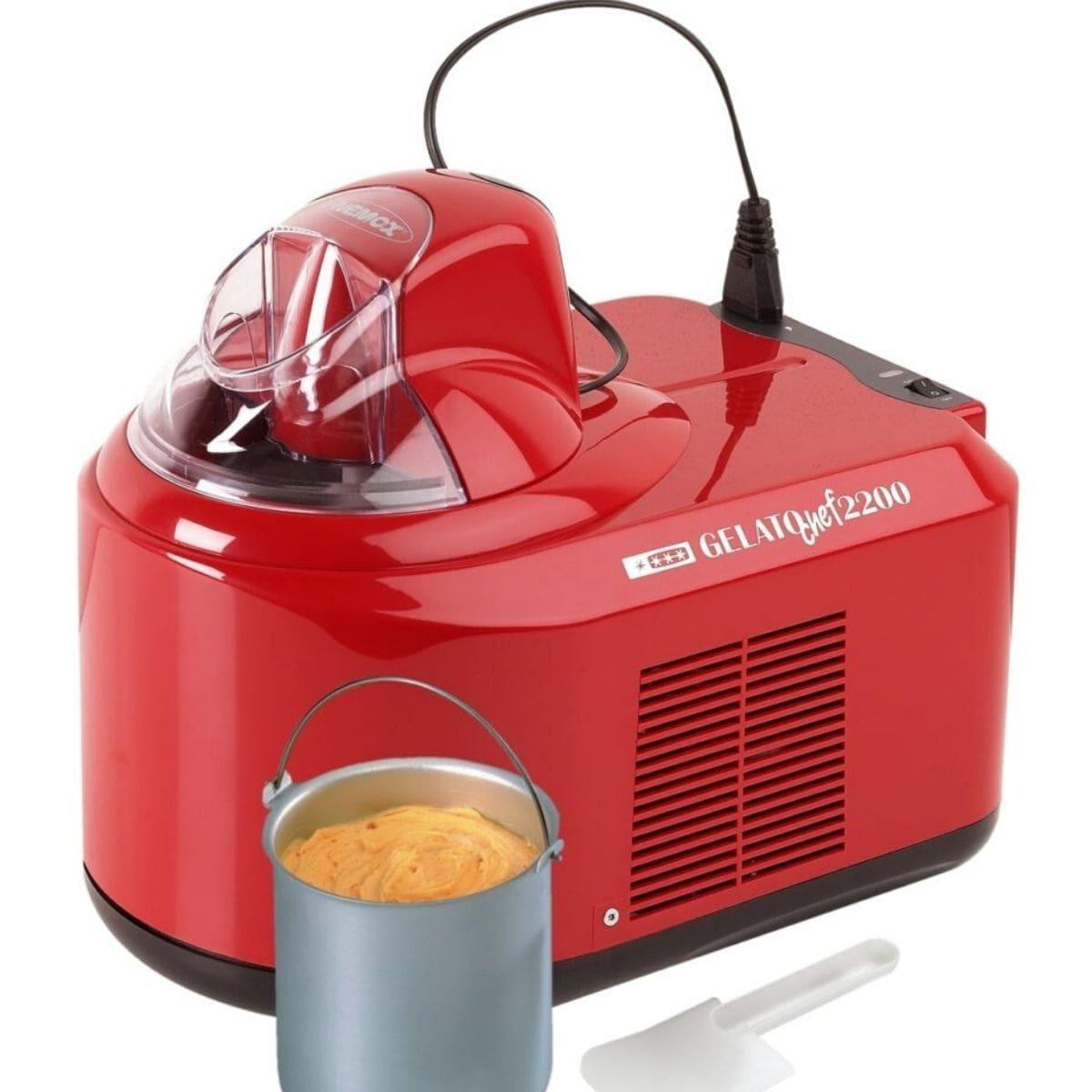 Мороженица Nemox Gelato Chef 2200 Rosso красная 1,5 л (автоматическая)