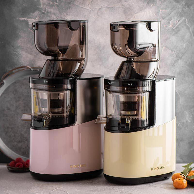 Соковыжималка King Mix GP-40S в цвете - розовая пастель и крем ваниль