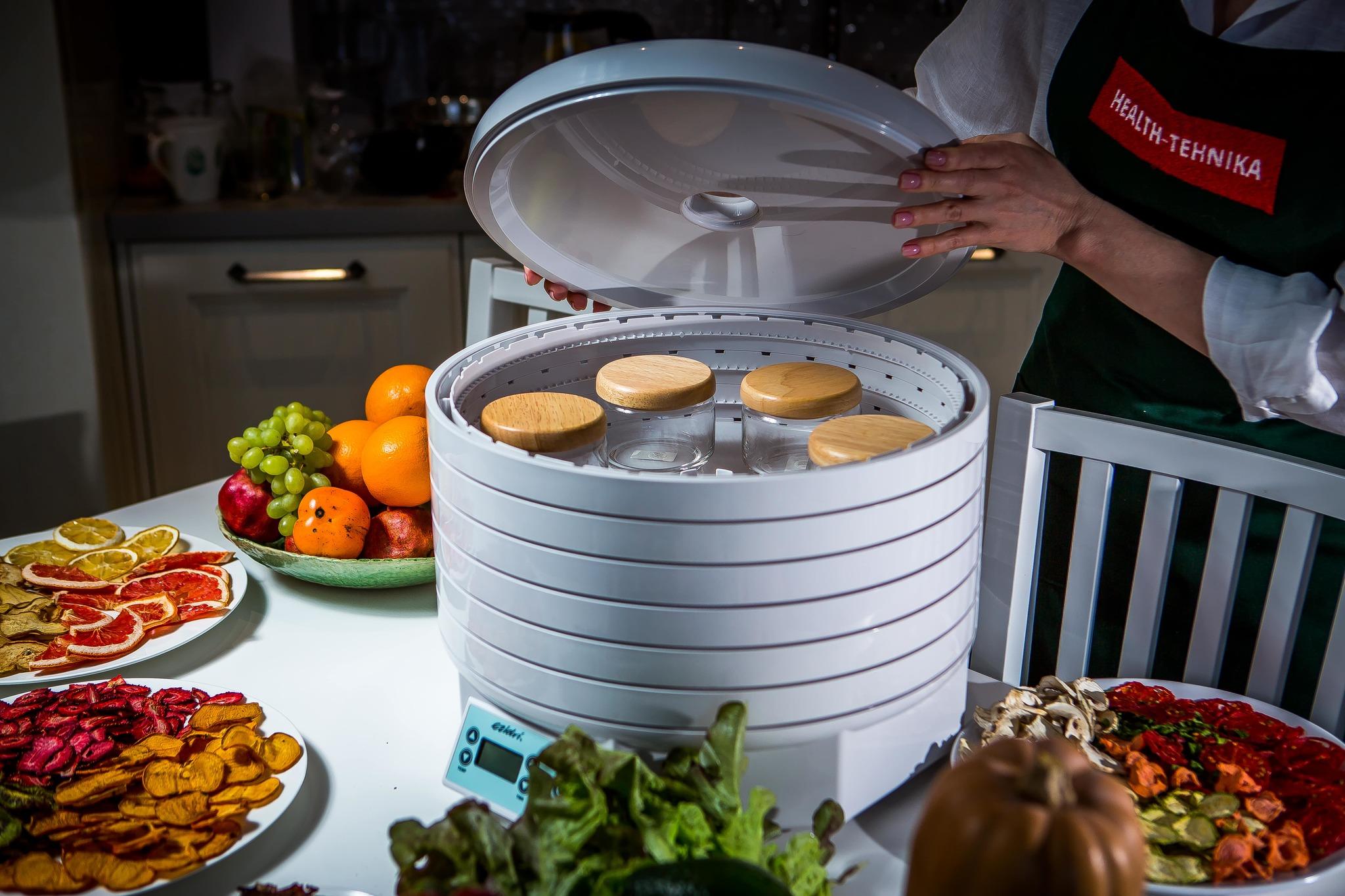 Дегидратор Ezidri Ultra FD1000 Digital, с дополнительными полыми кольцами подходит для приготовления йогуртов