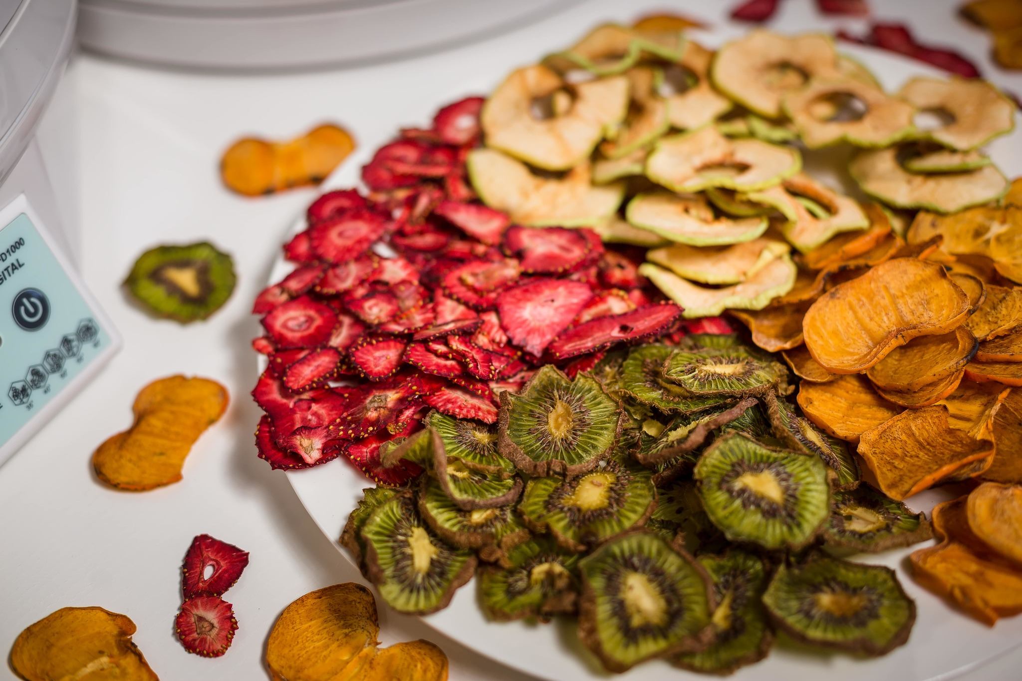 Дегидратор Ezidri Ultra FD1000 Digital. Высушенные ягоды и фрукты